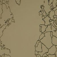 Carte montrant l'Amérique et l''Europe